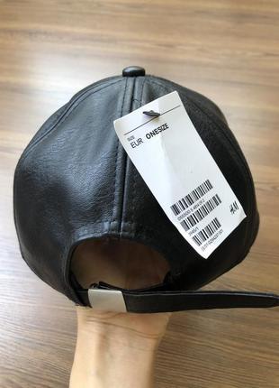 Кожаная кепка кожзам2 фото