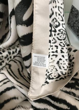 Новый итальянский платок с тигровым принтом4 фото