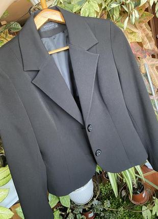 Шерстяной базовый пиджак 44-46разм.3 фото