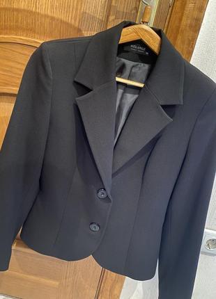 Шерстяной базовый пиджак 44-46разм.2 фото