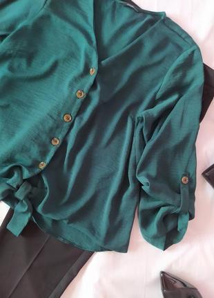 Изумрудная блузка блуза р.142 фото