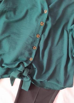 Изумрудная блузка блуза р.143 фото