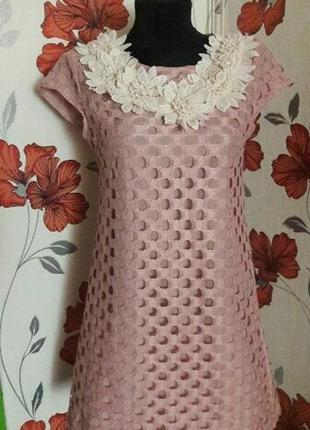 Платье пудра нарядное2 фото