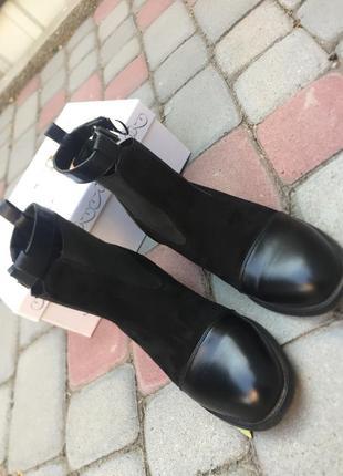 Кожаные ботинки, демисезонные2 фото