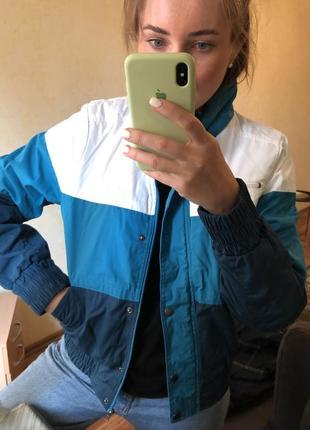Куртка ветровка весна осень винтажная спортивная