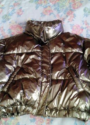 Золотая теплая куртка