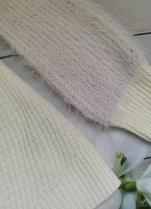 Модный свитер под горло свободный фасон пушистые рукава размер хс-с2 фото