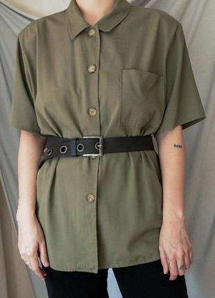Блуза под пояс цвета хаки