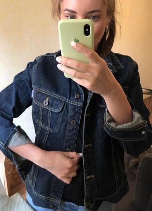 Классический джинсовый пиджак жакет оверсайз zara mango h&m
