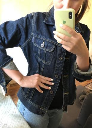 Классический джинсовый пиджак жакет оверсайз zara mango h&m5 фото