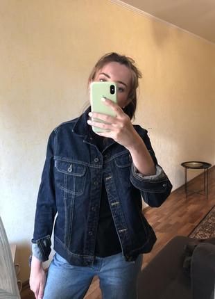 Классический джинсовый пиджак жакет оверсайз zara mango h&m6 фото