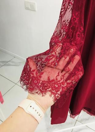 Стильное платье с кружевом большого размера4 фото