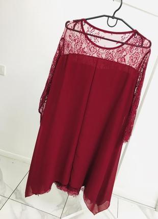 Стильное платье с кружевом большого размера2 фото