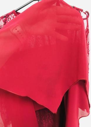 Стильное платье с кружевом большого размера5 фото