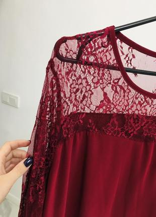 Стильное платье с кружевом большого размера6 фото