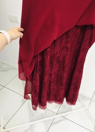 Стильное платье с кружевом большого размера8 фото