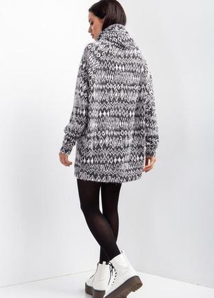 Трикотажный свитер с воротником хомут2 фото