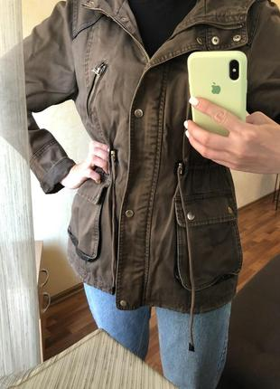 Парка куртка ветровка хаки милитари zara mango asos h&m