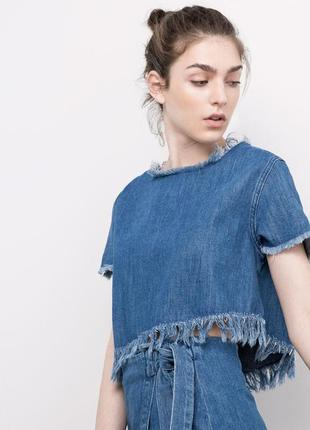 Топ denim pull&bear