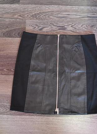 Новая юбка из экокожи