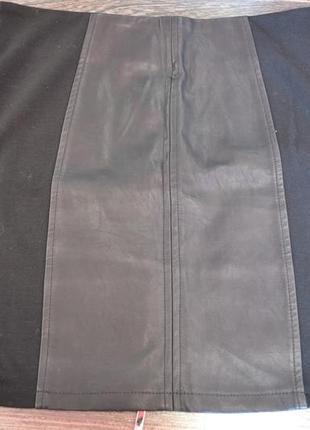 Новая юбка из экокожи6 фото
