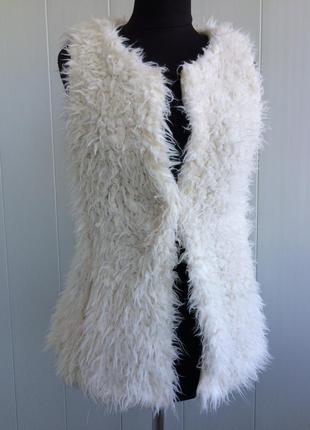 Плюшевая жилетка жилет кардиган шуба teddy fashion line