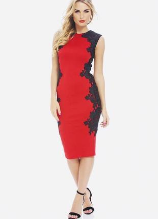 Платье/вечернее/коктейльное/красное/сукня/ажурное/кружевное/гипюр