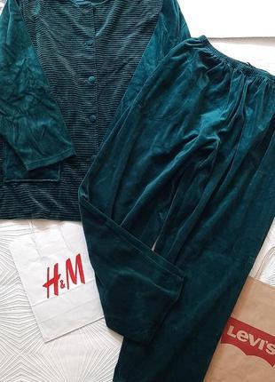 🦋 шикарный домашний костюмчик/пижама красивого малахитового цвета