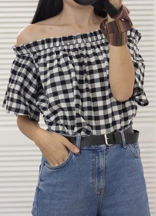 Блуза открытые плечи