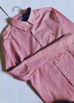 Рубашка в красную полоску ralph lauren