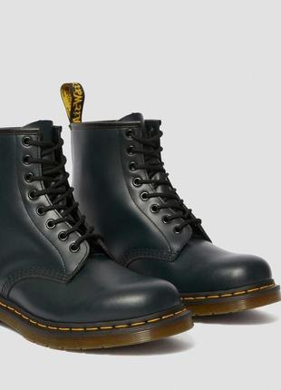 Ботинки dr. martens синие smooth leather original