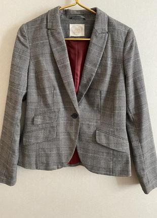 Пиджак жакет пиджак в клетку модный пиджак