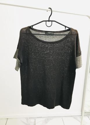 Оригинальная блуза из шелка и льна от max mara weekend ценник 245$