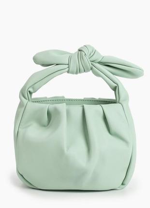 Новая сумка mango мятная мини из эко кожи клатч