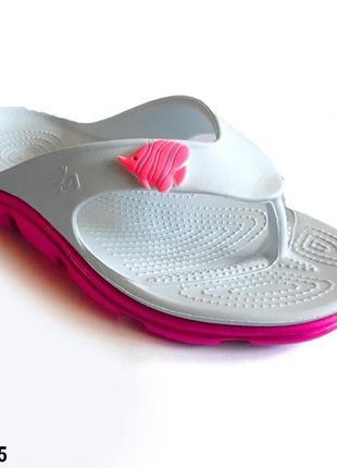 Вьетнамки женские, белые, р. 37, 38, медицинская обувь,118205
