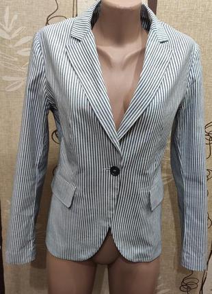 Montego стильный полосатый коттоновый пиджак
