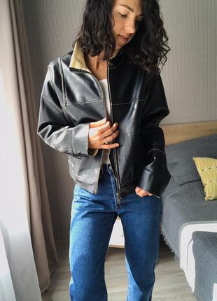 Крутая кожаная куртка от new view