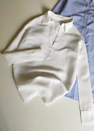 Белая рубашка logg (h&m) размер с