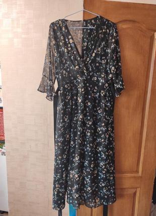 Шифоновое красивое платье