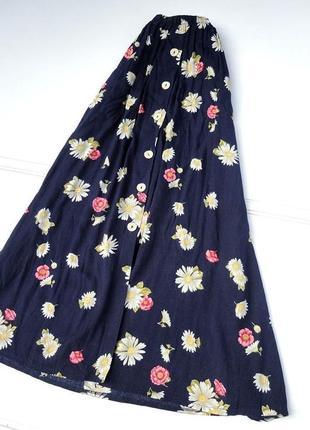 Юбка макси в цветочный принт