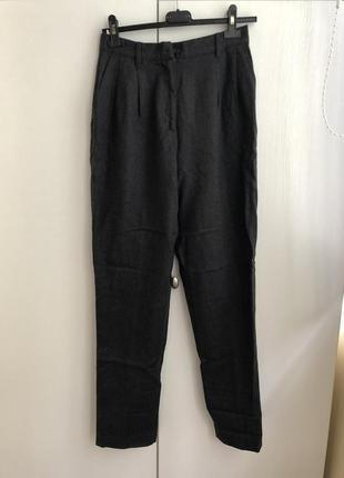 Шерстяні брюки з високою посадкою