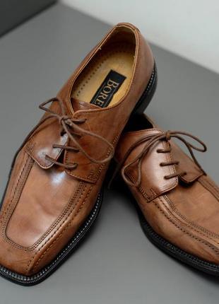 Borelli. кожаные туфли мужские коричневые