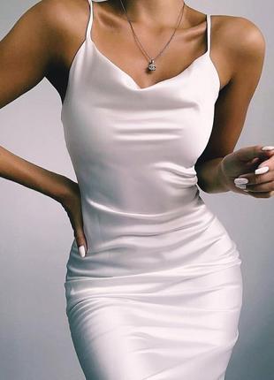 Шелковые платья комбинации