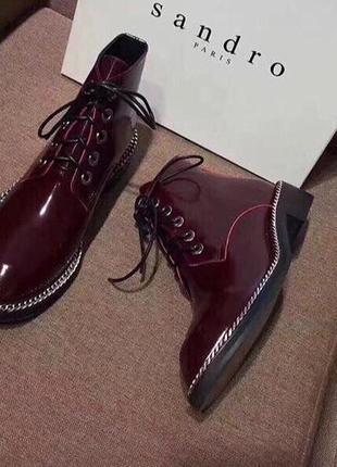 Кожаные ботинки на осень, размер 38,39