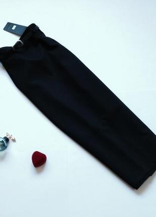 Классическая юбка миди с высокой посадкой