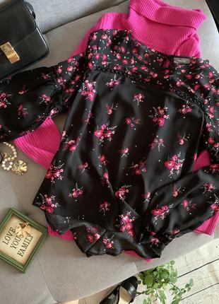 Блуза с цветочный принт jessica р.38