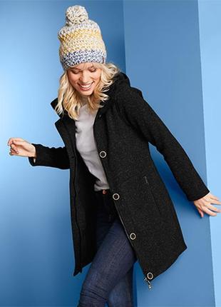 Крутое теплое пальто пайта, из вязаного флиса, с начесом тсм чибо. s м