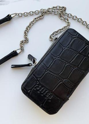 Стильная сумка - чехол для телефона в черном цвете