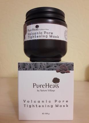 Маска с вулканическим пеплом для очистки и сужения пор pureheal's