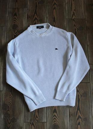 Вязаный винтажный хлопковый свитер оригинал burberry
